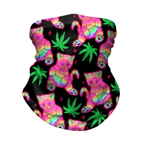 Rainbow Weed Kitty Neck Gaiter
