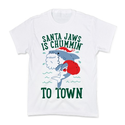Santa Jaws Is Chummin' To Town Kids T-Shirt