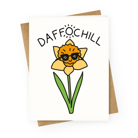 Daffochill Daffodil Greeting Card