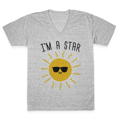 I'm A Star (Sun) V-Neck Tee Shirt