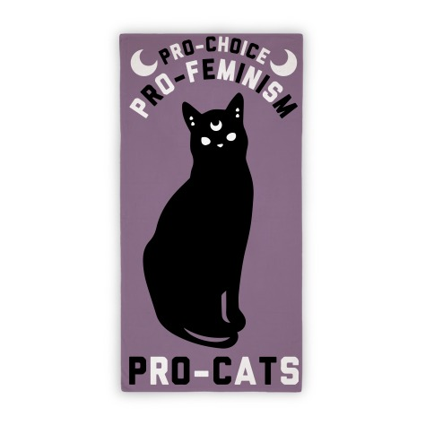 PRO-FEMINISM Pro-Cats Towel  Beach Towel