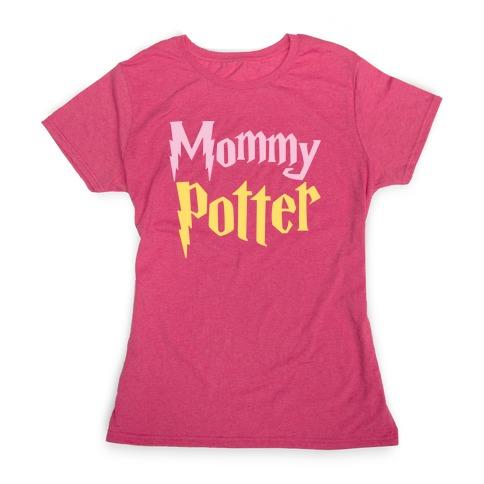 Mommy Potter Parody White Print Womens T-Shirt