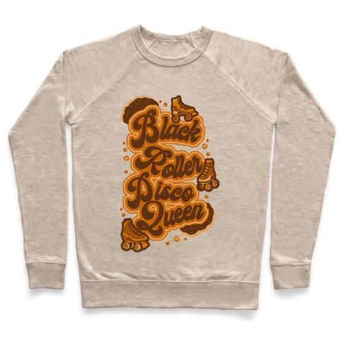 Black Roller Disco Queen Brown Pullover