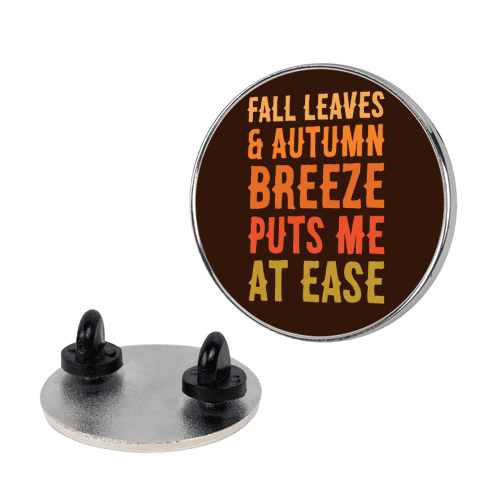 Fall Leaves and Autumn Breeze Pin