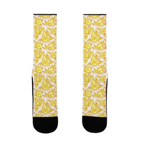 Floral Penis Yellow Sock