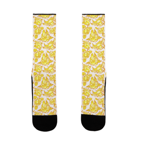 Floral Penis Yellow Sock