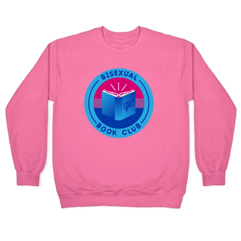Bisexual Book Club Patch White Print Pullover