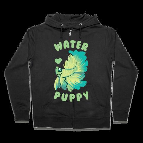 Water Puppy! Zip Hoodie