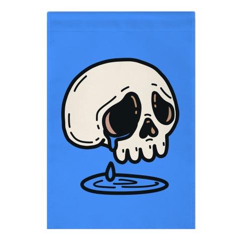 Sensitive Skull Garden Flag