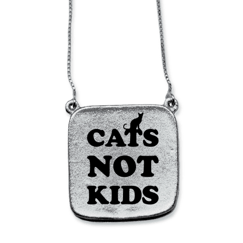 Cats Not Kids necklace