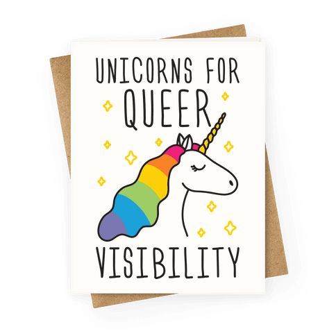 Unicorns For Queer Visibility Greeting Card