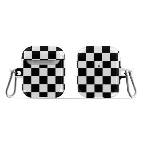 Checkered Black and White AirPod Case