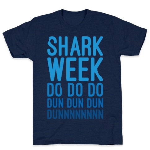 Shark Week Do Do Do Dun Dun Dun Jaws Parody White Print T-Shirt