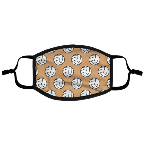 Volleyball Pattern Flat Face Mask