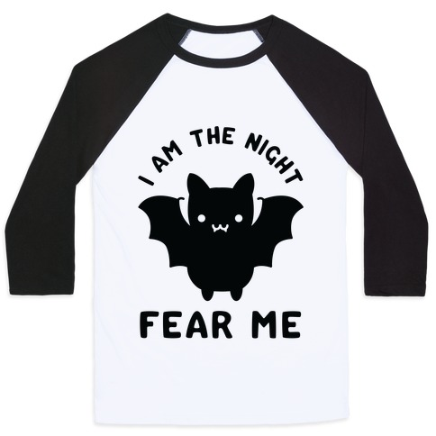 I Am The Night Fear Me Baseball Tee