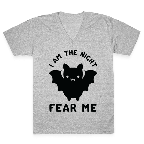 I Am The Night Fear Me V-Neck Tee Shirt