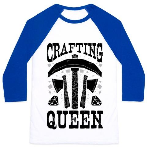 Crafting Queen Baseball Tee