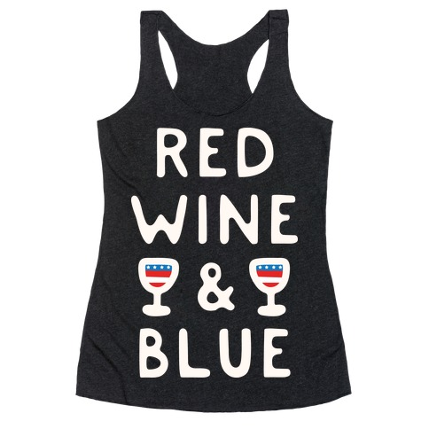 Red Wine And Blue Racerback Tank Top
