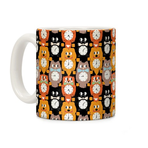 Animal Clock Pattern Coffee Mug