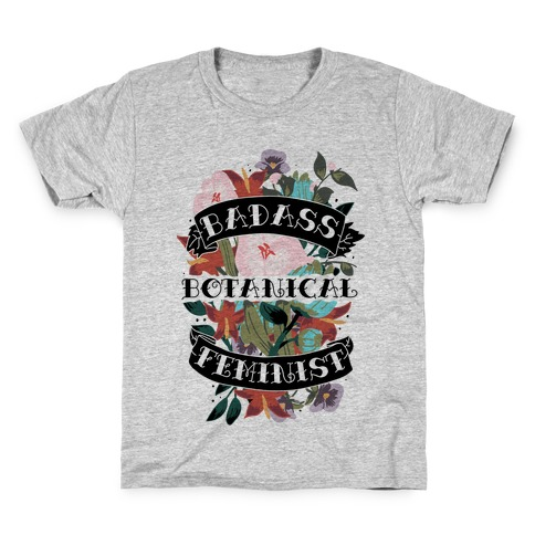 Badass Botanical Feminist Kids T-Shirt