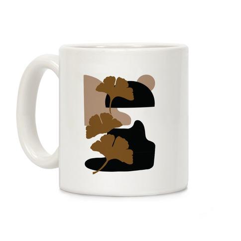 Minimalist Ginkgo Leaf Illustration Coffee Mug