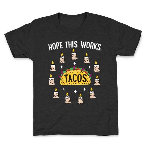 Tacos Summoning Circle Kids T-Shirt