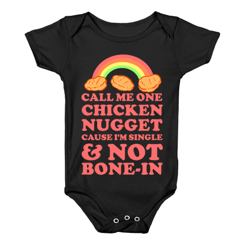 Call Me One Chicken Nugget Baby Onesy
