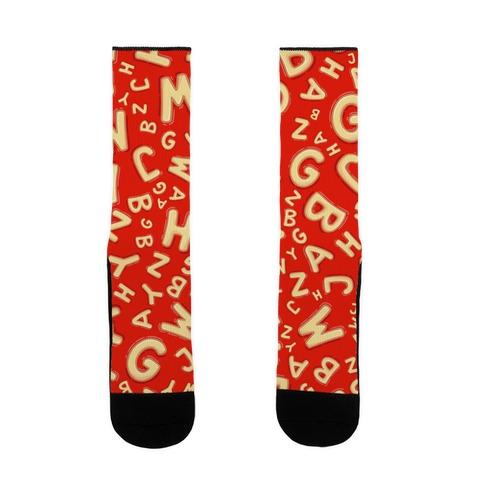 Alphabet Soup Pattern Sock