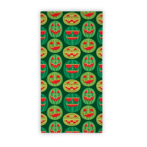 Jack-o-Melon Pattern Beach Towel