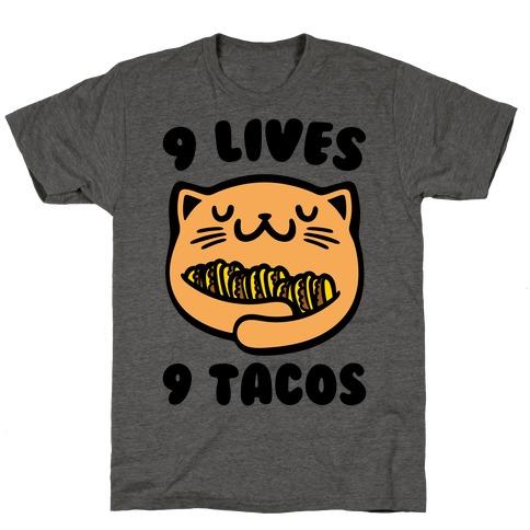 9 Lives 9 Tacos T-Shirt