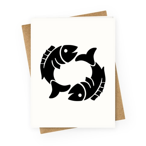 Zodiacs Of The Hidden Temple - Pisces Fish Greeting Card