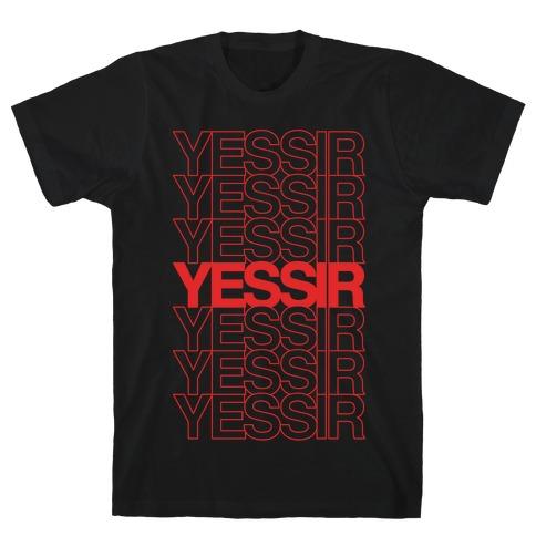 Yessir Thank You Bag Parody White Print T-Shirt