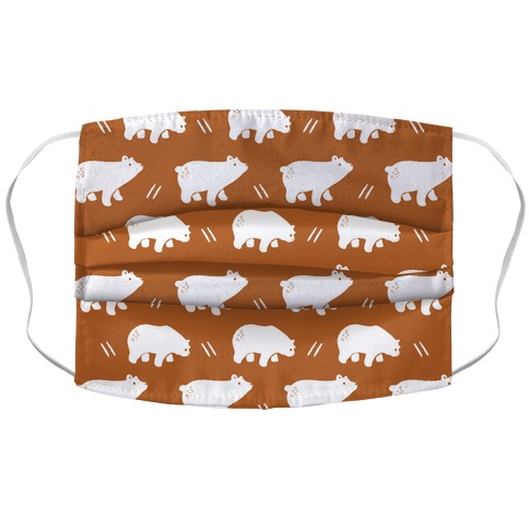 Bear Rust Boho Pattern Face Mask Cover
