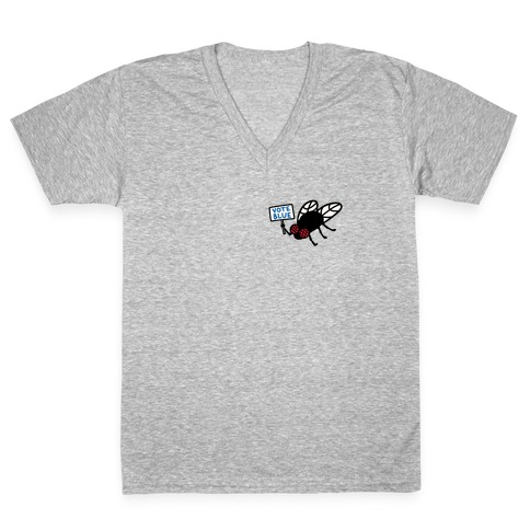 Vote Blue Fly V-Neck Tee Shirt