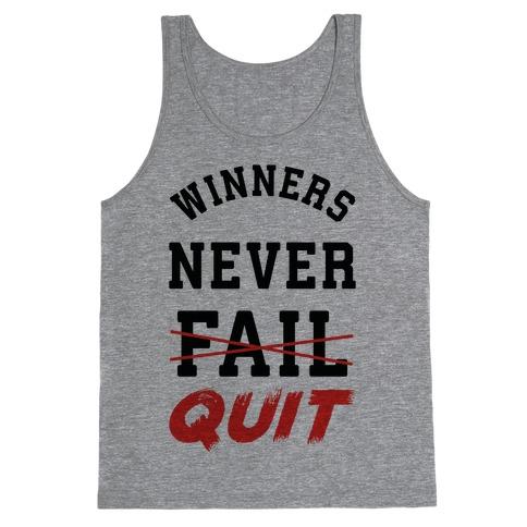 Winners Never Quit Tank Top