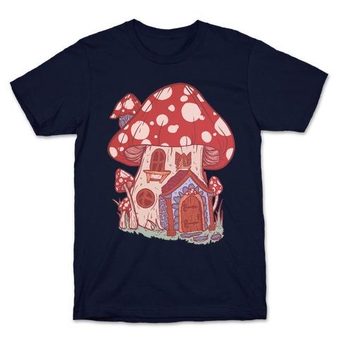 Fairy Mushroom House Pattern T-Shirt