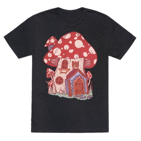 Fairy Mushroom House Pattern T-Shirt