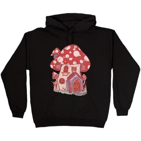Fairy Mushroom House Pattern Hooded Sweatshirt