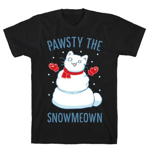 Pawsty The Snowmeown T-Shirt
