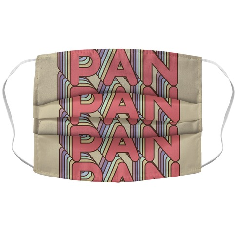Pan Retro Rainbow Face Mask