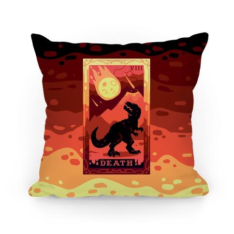 Death Dino Tarot Pillow
