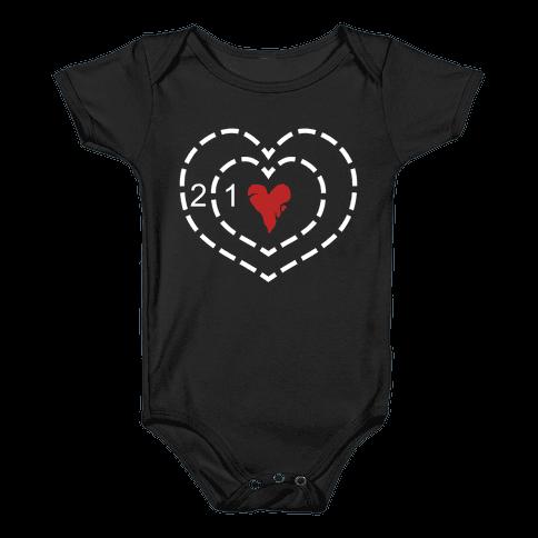 The Grinch's Heart Baby Onesy