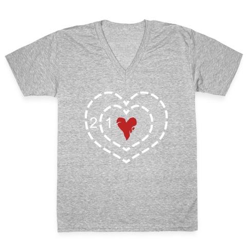 The Grinch's Heart V-Neck Tee Shirt