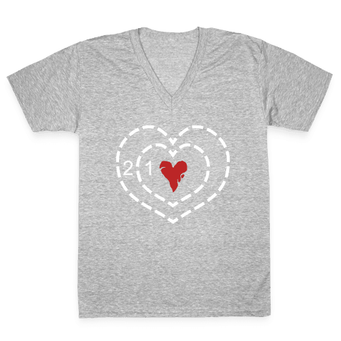 The Grinch's Heart V-Neck Tee Shirt