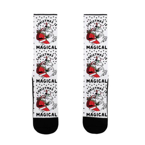 Christmas Is Magical Sock