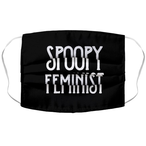 Spoopy Feminist Accordion Face Mask