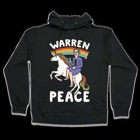 Warren Peace White Print Hooded Sweatshirt