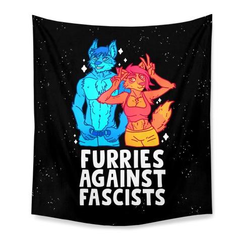 Furries Against Fascists Tapestry