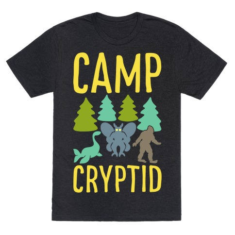 Camp Cryptid White Print T-Shirt
