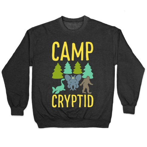Camp Cryptid White Print Pullover